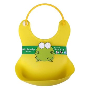 Harga New Born Baby Boy Kids Children Feeding Towel Cloth Apron Babador Bibs Bib Hot yellow
