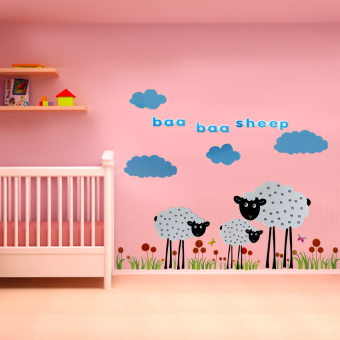Baby Steps Baa Baa Sheep Self-adhesive 3D Wall Sticker Price Philippines