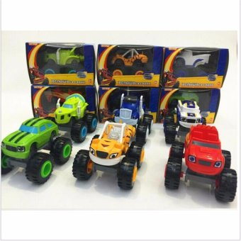 6PCS/SET Blaze Monster Machines Russia blaze miracle cars toy for kids Car Transformation Toys With Original Box Kids Best Gifts - intl Price Philippines