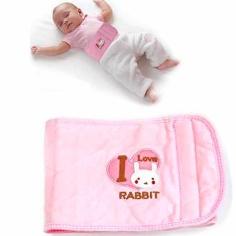 Harga Adjustable Baby Warm Belly Band (Pink Rabbit)