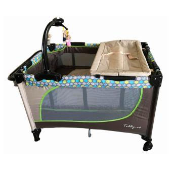 Baby 1st (Tobby Co) Crib Playpen with Rocking system P-510DCR, BROWN Price Philippines