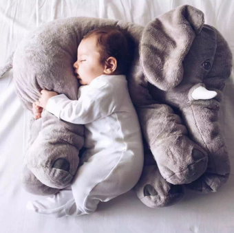 "HOT Cute Jumbo Elephant Stuffed Animal 23.5"" Plush Pillow Kids Soft Toy Doll Plush Toys Price Philippines"