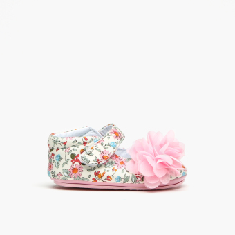 Harga Pitter-Pat Girls Floral Mary Jane Flats (Multicolored)