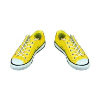 BolehDeals 1/6 Lace Up Canvas Shoes Flats Sneakers for 12'' Male Action Figure Yellow - intl Price Philippines