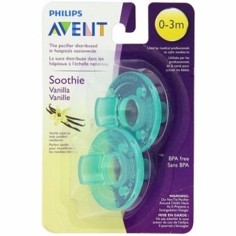 Philips Avent - Vanilla Scented Soothie Pacifier, Green, 0-3 Months, Pack of 2 Price Philippines