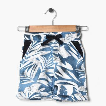 Just Jeans Boys Tropical Drawstring Bermuda Shorts (Blue) Price Philippines