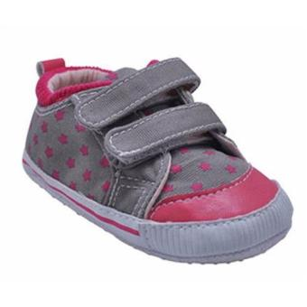 Enfant Baby Girl Shoes With Stars Design (pink,grey) Price Philippines