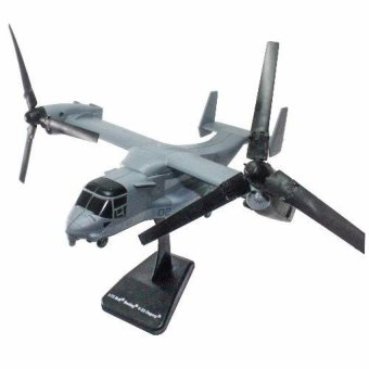 Harga NewRay 1:72 Die-cast Bell Boeing V-22 Osprey Helicopter Grey ColorModel Collection Christmas New Gift(Grey) - intl