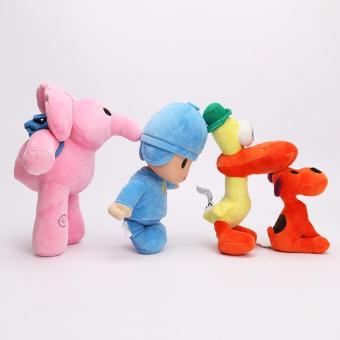 4pcs/set Pocoyo Baby Kids Soft Plush Toys Doll Yoyo Pato Loula Dolls for Boys and Girls - intl Price Philippines