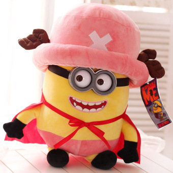 Harga Candice guo! Cute plush toy Despicable Me Minions turned to one piece Chopper stuffed doll Valentine's birthday gift 1pc - intl