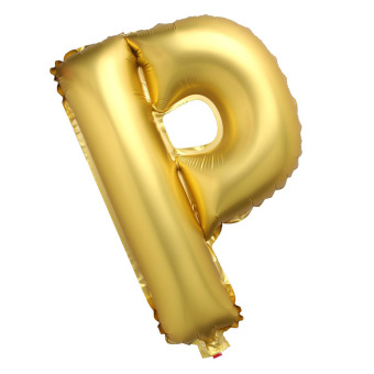Letter P Gold Big Foil Balloon Inflated Ball Wedding Party Supplies 40 Inch - intl Price Philippines