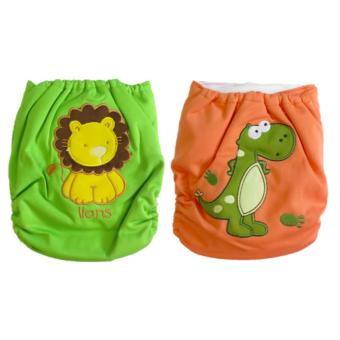 Harga Cloth Diapers for Boys Lion/Dinosaur Designs Pack of 2