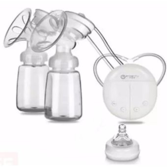 Harga RH228 Mother Manual Double Electric Breast Pump (White)