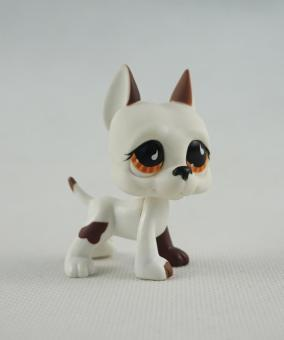 2 Inch Littlest Pet Shop LPS 750 White Brown Great Dane Dog Puppy Brown Eyes Girl Toys - intl Price Philippines