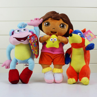 3pcs/set Dora The Explorer Plush Boots Plush Monkey Plush Swiper Fox Dora Price Philippines