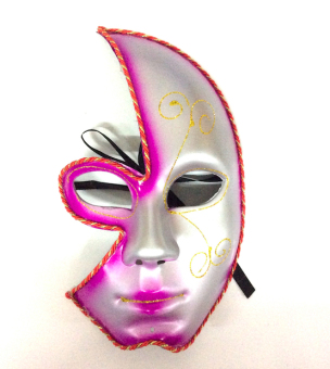 Partyline Half Face Costume Party Masquerade Mask (Fuchsia Pink) Price Philippines