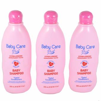 Baby Care Plus Baby Shampoo Pink with Cetiol Conditioners Set of 3 200mL Price Philippines