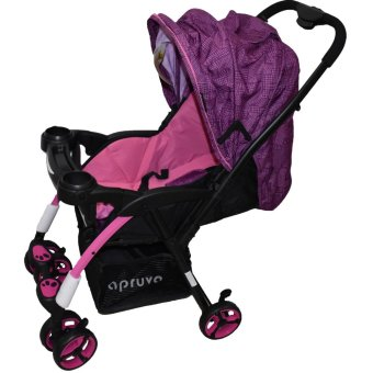 Harga Apruva Folding Deluxe Baby Stroller with Reversible Handle, Violet