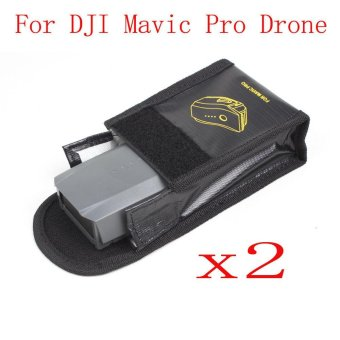 Harga 2PC Fireproof Explosionproof Storage Bag Case Safety For DJI Mavic Pro - intl