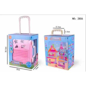 New Shop Hong Kong Educational Luggage Building Blocks Toy (Pink) Price Philippines
