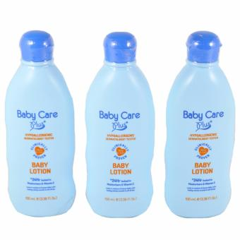 Baby Care Plus Blue Baby Lotion Set of 3 100mL Price Philippines