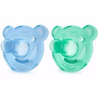 Philips Avent - Soothie Pacifier, Blue/Green, Bear Shape, 0-3 Months, Pack of 2 Price Philippines