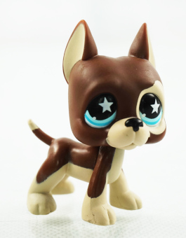 2.3'' Dane Dog Chocolate Star Eyes Girl toys Kids Toys Animals Littlest Pet Shop LPS 817 - Intl Price Philippines