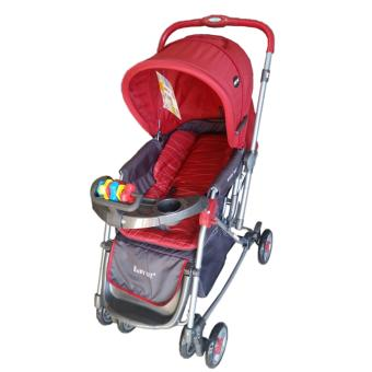 Baby 1st Stroller with Reversible Handle and Rocking Feature S-036CR, RED Price Philippines