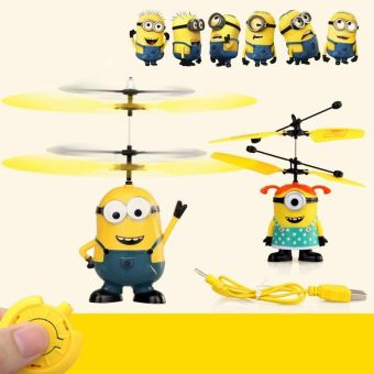Harga HOT Despicable ME Flying Minion Sensor +Remote Control Mini RC Helicopter Toys