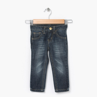 Just Jeans Boys Dark Wash With Faded Whiskering Jeans (Blue) Price Philippines