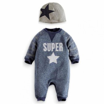 Baby star Body suit New born baby set 0-24month autumn(grey) Price Philippines