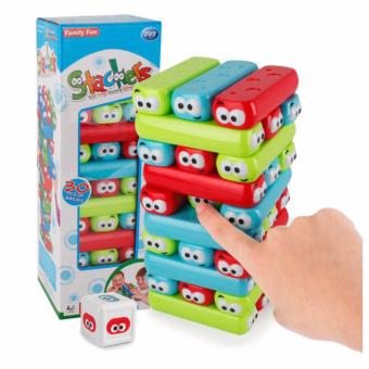 Harga HAPPY KIDS Stackers Brick Tower Stacking Game Strategy & Board Game