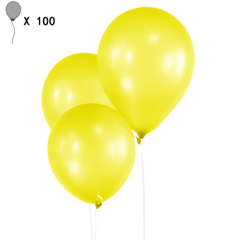 100 PCS Latex 10 Inch Pearl Thick Balloons Wedding Kids Birthday Christmas Holiday Party Decorative Balloons Party Supplies Yellow - Intl Price Philippines