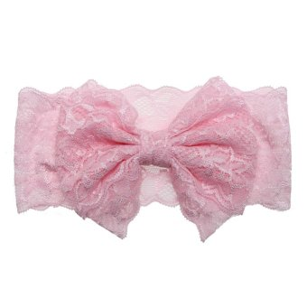 Harga Baby Hair Accessories Cute Bow Hairpin Photography Props(Pink) - intl