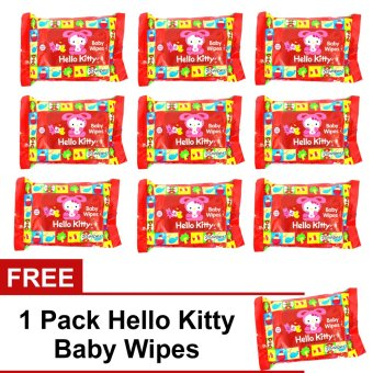 Harga Mark & Tony 9 Packs Hello Kitty Baby Wipes with FREE 1 Pack