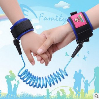 Harga Baby Safety Harness Strap Child Anti Lost Belt- 2.5m (Blue)