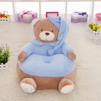 Blue Stuffed Toy Baby Kid Children Pajamas Bear Sofa Soft Doll Plush Holiday Gift - intl Price Philippines