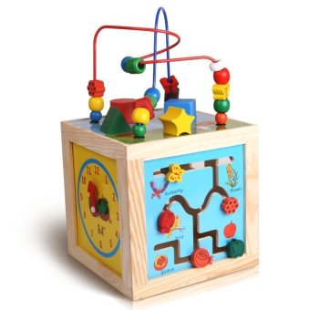 Montessori Bead Maze + Clock + Shapes + Beads Maze Wooden Educational Toys Price Philippines