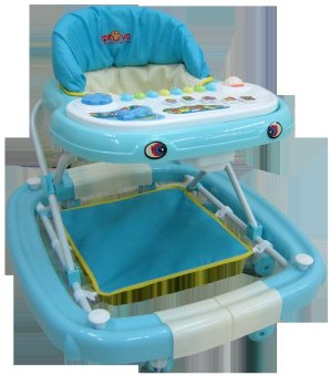 Harga 2-in-1 Walker & Rocker with Activity Tray (Blue)