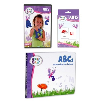 Harga Brainy Baby ABCs VCD Series, Board Books and Flashcards Bundle