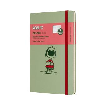 Harga Moleskine 2017-2018 Peanuts Limited Edition Weekly Notebook, 18M, Large, Green, Hard Cover(13 x 21 CM) - intl