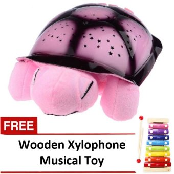 Plush Twilight Turtle Night Light (Pink) with FREE Wooden Xylophone Musical Toy Price Philippines