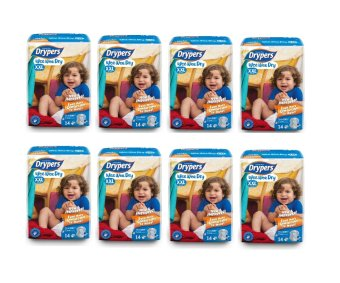 Harga Drypers Wee Wee Dry Diapers Regular Pack XXL 14's Pack of 8