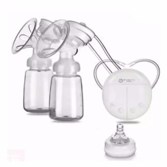 Harga XZY- RH228 Mother Manual Double Electric Breast Pump (White)