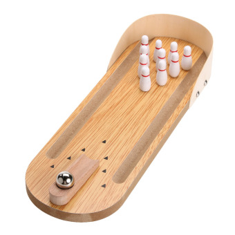 Wooden Mini Desktop Bowling Game Children Developmental Toy - intl Price Philippines