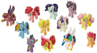 Harga My Little Pony Cake Toppers Cupcake 12 piece Set Toys Figurines Playset - intl