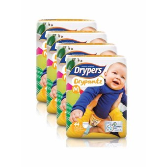 Harga Drypers DryPantz Diaper Medium 44's Pack of 4