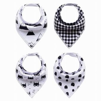Harga EOZY 4Pcs Unisex Baby Boys Girls Cotton Bibs Burp Cloths Newborn Bandana Saliva Towel (Mix Color) - intl