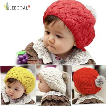 leegoal Baby Infant Knit Beanie Crochet Rib Pom Pom Warm Hat Cap , Red - intl Price Philippines