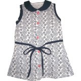 Harga Kid Basix Navy Lace Print w/Ribbon Detail Dress (Navy)